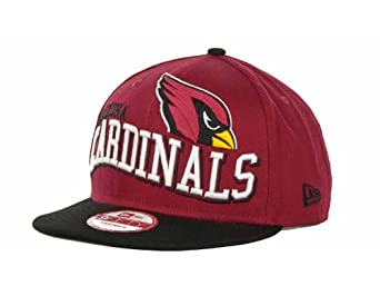 Arizona Cardinals Wave Snap Red Black Adjustable Snapback Hat Cap by New Era