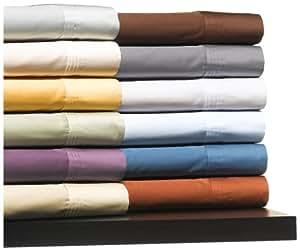 Pinzon Luxury 400-Thread-Count Egyptian Cotton Queen Sheet Set, White