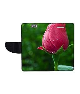 KolorEdge Printed Flip Cover For HTC One A9 Multicolor - (1478-50KeMLogo10794HTCA9)