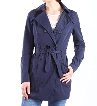 Only Damen Mantel Sandy Long Trenchcoat, moodindigo, Gr. XL