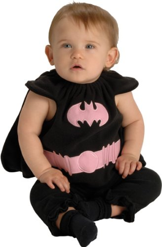 DC Comics Deluxe Pink and Black Batgirl Bib and Cape Costume