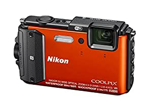 Nikon Coolpix AW130 16MP Waterproof Shockproof Digital Camera (Orange)(Certified Refurbished)