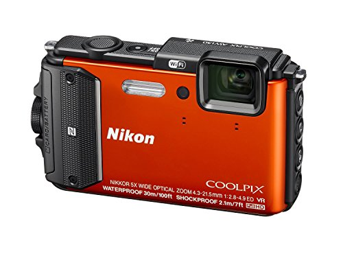 New Nikon Coolpix AW130 16MP Waterproof Shockproof Digital Camera (Orange)(Certified Refurbished)