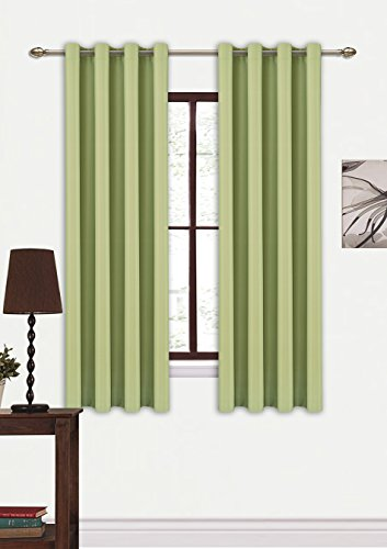 amazoncurtains schlafzimmer massiv thermal insulated heizung gegen eyelet blackout vorhang. Black Bedroom Furniture Sets. Home Design Ideas