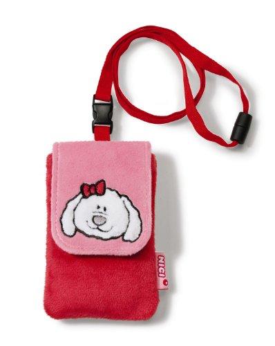 Imagen principal de Nici Loulou 33558 - Funda para teléfono móvil de peluche, diseño oveja, color rojo [importado de Alemania]