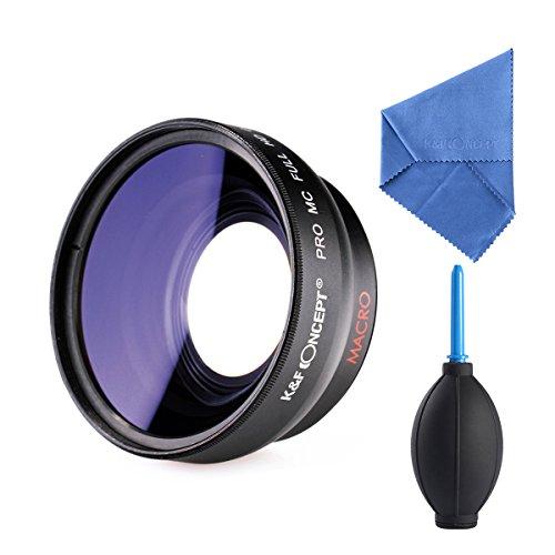 K&F Concept® 52mm Super Weitwinkelkonverter 0.45x Professionell HD Weitwinkel Objektiv Vorsatz mit Makrolinse mit Reinigungstuch Reinigungspinsel Blasebalg für Canon Rebel T5i T3i XTi XS T4i T2i XT SL1 T3 T1i XSi EOS 1000D 600D 450D 100D 650D 700D 550D 400D 500D 300D 1100D and Nikon D7100 D5100 D3100 D300 D90 D70s D40x D3X D7000 D5000 D3000 D300S D80 D60 D3 D5200 D3200 D700 D200 D70 D40 D3S