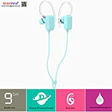 buy Granvela S310 Mini Sports Stereo Music Wireless Bluetooth Headphone In-Ear Earphone With Mic Csr 4.0 For Iphone, Ipad, Android-Light Blue