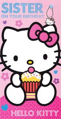 Hello Kitty Sister Birthday Card & Bag Charm