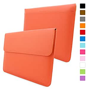 Snugg Macbook Pro 15 Case - Leather Sleeve with Lifetime Guarantee (Orange) for Apple Macbook Pro 15