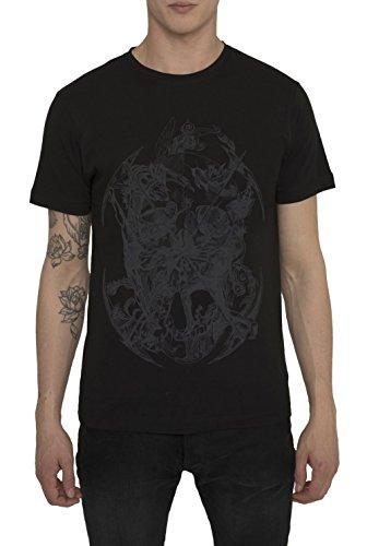 T Shirt Designer Fashion Rock, Maglietta da Uomo, Maglia Nera, Grigia, Bianca con Stampa - SURVIVAL Design Graffiti Tattoo, Cotone, Girocollo, Manica Corta, Magliette Moda Urban Cool per Uomo S M L XL