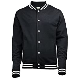 Awdis Mens College Jacket (XL) (Jet Black)