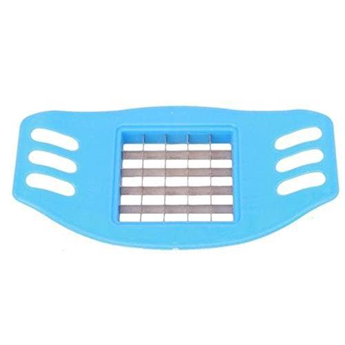 Linkings-Frites-Pommesschneider-Kartoffelschneider-Messer-Stifte-Pommes-Zerkleiner-Blau