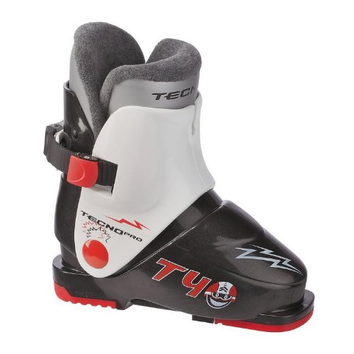 TecnoPro Skistiefel T40 Kinder Skischuh (Farbe / Größe: 903 schwarz/weiss - 26 Mondopoint-40 Schuhgröße)