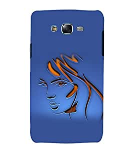 printtech Beautiful Girl Face Abstract Back Case Cover for Samsung Galaxy J7 / Samsung Galaxy J7 J700F
