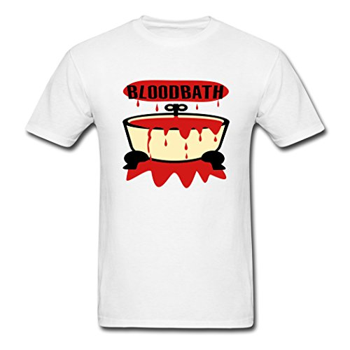 Black Memories Bloodbath With Tub And Blood Top Men's T-shirts White M (White Tub Top Shirt compare prices)
