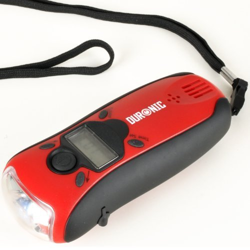 Duronic Explorer Wind-Up Rechargeable Flashlight