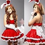 【クリスマス】★UNICOS★ バニーガール クリスマスカラーレッド   仮装 コスプレ