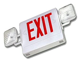 harris 2lpdual combo emergency light exit sign fixture. Black Bedroom Furniture Sets. Home Design Ideas