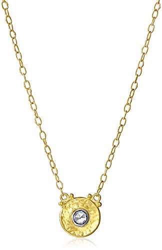 GURHAN-Yellow-Gold-White-Diamond-Droplet-Pendant-Chain-Necklace