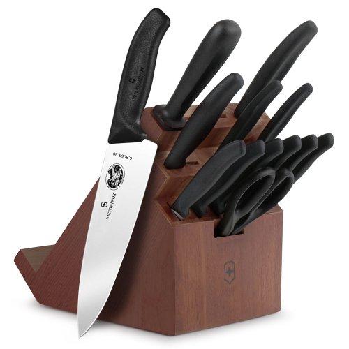 Victorinox Forschner Swiss Classic 14-piece Walnut Swivel Knife Block Set
