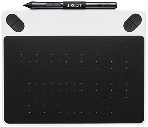 Wacom CTL-490DW-S Intuos Draw Tavoletta con Penna Piccola, Software Creativo Disegno, Value Pack per Stampe Digitali, Bianco