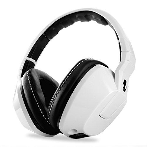 Original Skullcandy Crusher White Headphones Amplifier Mic Over-Ear Bass