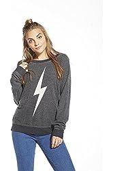 Chaser Women's Bolt Long Sleeve Graphic Fleece