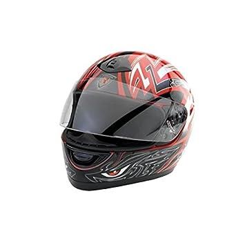 Bottari Moto 64158 Casque Viper, Noir/Rouge, Taille : XL