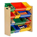 "Honey-Can-Do Srt-01602 Kids Toy Organizer And Storage Bins, Natural/Primary ""Prod. Type: Lifestyle/Storage & Organization"""