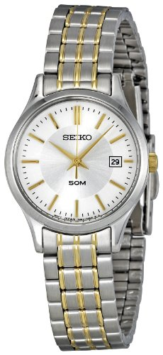 Seiko Women's SXDC39 Silver Dial Casual Watch