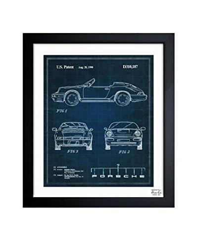 """Oliver Gal """"Porsche 911, 1990"""" Framed Art"""