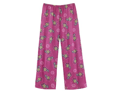 Life Is Good Girl'S Flannel Pj Pant, Tossed Rckt, Magenta, Small front-440512
