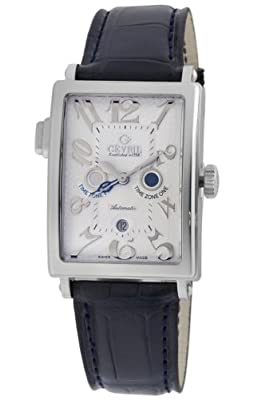 Gevril Mens 5850 Avenue of Americas Serenade Silver dial watch.