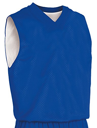 Teamwork Youth Fadeaway Reversible Basketball Jersey, Large/X-Large, Royal Blue/White (Light Blue Basketball Jersey compare prices)
