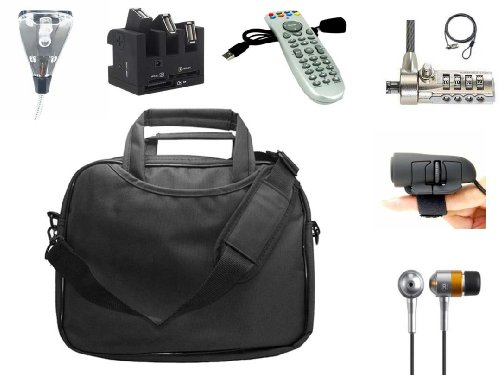 Decisive Netbook 7 Piece Bundle Kit - 8-10.1 Premium Netbook Carrying Case + Netbook Certainty Combo Lock + USB 2LED Netbook Light + USB Finger Mouse + USB Hub and Press card Reader + Sound Isolating Earbud Earphones + PC Unusual