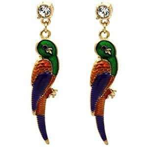 Quirky Parrot Earrings