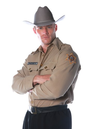 Sheriff Shirt Mens One Size Adult Halloween Costume