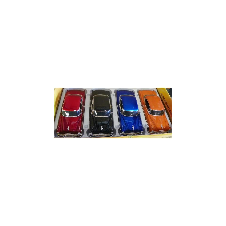 Jada Toys 1/24 Scale Diecast Big Time Kustoms 1953 Chevy Bel Air Box of 4 Cars