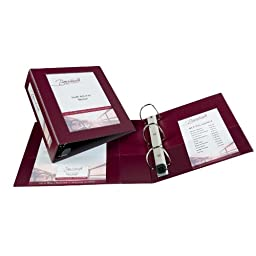 Avery Framed View Binders with One Touch 3-Inch EZD Ring, Holds 8.5 x 11 Inches Paper, Maroon (68040)
