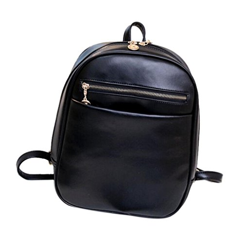 [Creazy Fashion leather Backpacks Women Travel School Bag Mochila Feminina Bag (Black)] (Diy Costumes With Black Corset)