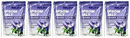 Lot of 5 bags Relief Sore Muscle & Back Soak Lavendar Scented 16/oz each