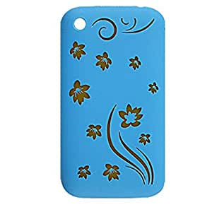 Blue Protective Silicone Skin Case for iPhone 3G