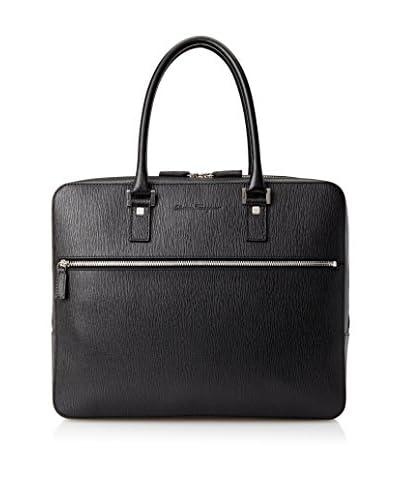 Salvatore Ferragamo Men's Bag, Nero Pebble Calf