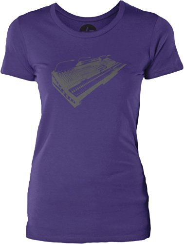 Big Texas Vintage Mixer Womens Combed Cotton T-Shirt, Purple, S front-351448