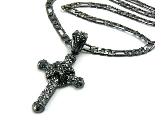 Iced Out Cross Pendant w/ 24