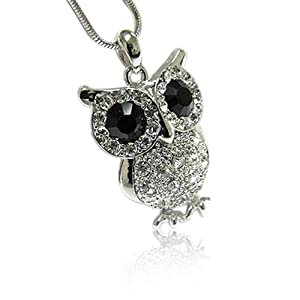Crystal Owl Pendant Necklace Fashion Jewelry