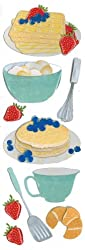 Martha Stewart Crafts Baking Waffles Dimensional Sticker