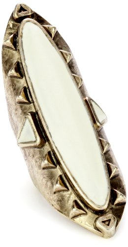 Low Luv by Erin Wasson Gold-Tone Long Wood, Ring 7
