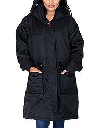 Romano Women's Water Wind Snow Resistant Black Jacket