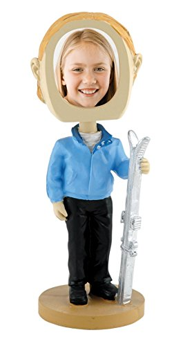 Female Skier Photo Bobble Head